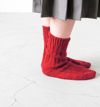 裾ロールアップをマスターしたら靴下でも遊んでみましょう。