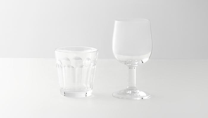 commonにはワイングラスも用意されています。 ブランドを揃えて持っておいてもおしゃれですね!
