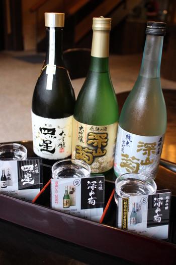 もちろん、お料理に合わせたお酒もたくさん用意しています。 蔵元ならではの品揃えを楽しんでみるのもいいですね。