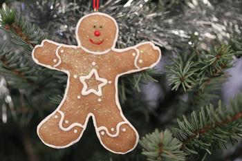 こんな風に、リスマスツリーの飾りつけ用にも、このジンジャーブレッドマンという人型のクッキーを作って楽しんだりするそうです!