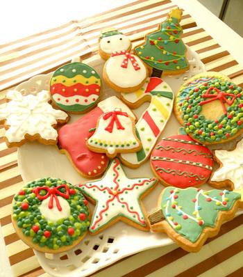 クリスマスリースにツリー、雪だるま、雪の結晶…。なんだか食べるのが勿体ない程の可愛さです!「どれにしようかな…」お子様のキラキラした表情が思い浮かびます☆