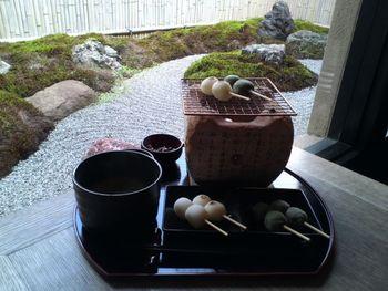 【京福電鉄「嵐電嵐山駅」近くの路地に佇む「イクスカフェ 嵐山本店」。店内では広大な日本庭園を眺めながら、オリジナルの和スウィーツが頂けます。】
