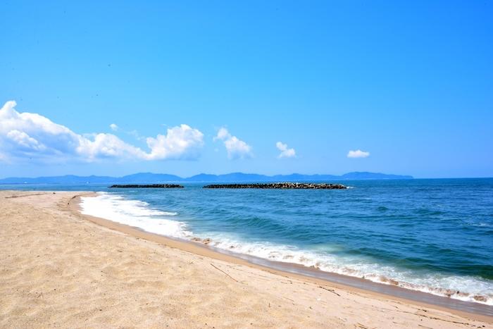 朝に弓ヶ浜を散歩なんて良いですね。お天気も良ければ気分爽快♪