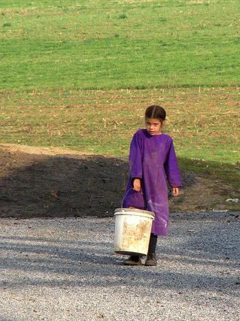 子どもたちも小さい頃からお手伝いすることが当たり前。大人も子供も、男女も全員で仕事に取り組みます。