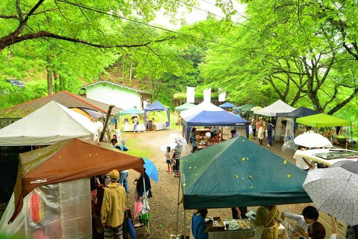 バルンバルンの森ではマルシェやフェスも開催されています。