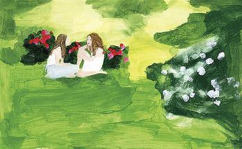 林真理子さんの『野ばら』は、若く美しい女性2人が恋愛や友情に悩みながらも成長していく姿が描かれた作品です。 網中さんの描く乙女的な装画が、作品世界と絶妙にマッチ。読者から多くの反響を呼び、注目の的に―。