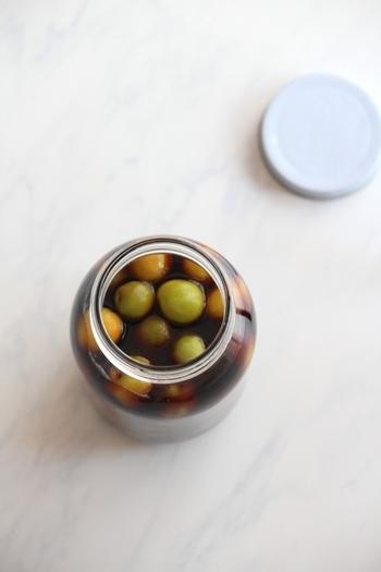 こちらも漬けておけば出来ちゃう簡単さの梅醤油。梅の爽やかな風味でさっぱりした口当たり。
