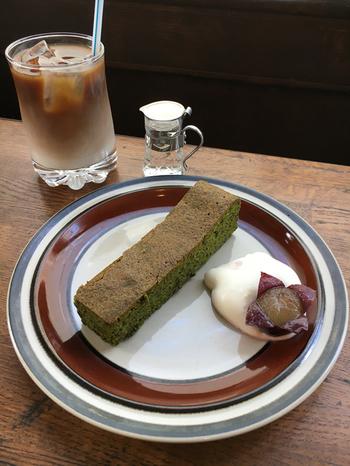 こちらは「抹茶ガトーショコラ」。どのメニューも「もう一度食べたい!」とリピする人も数多く、本当に美味しいんです!