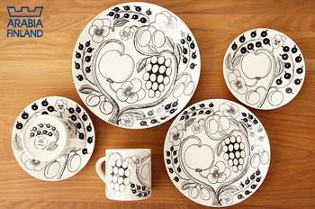 プレートの種類は、3種類(26cm・21cm・16.5cm)。ボウル(17cm)※ソーサーを小皿としても使えます。