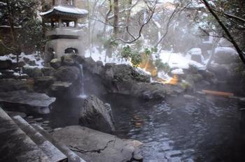もちろん、人が入る温泉もあるのでご安心を。湯量が自慢のかけ流し温泉です。