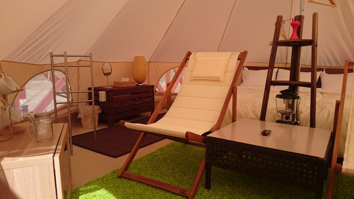 宿泊施設は、コテージもありますがヒーター付きのおしゃれなテントで豪華に過ごすのも◎