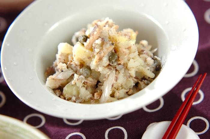 コクがあり、深みのある味わいのポテトサラダは、ボジョレーヌーボーのおつまみにもいいですね。オイルサーディンは、さっと炒めておくと魚のくさみがなくなります。クラッカーなどにのせてもおいしそう。