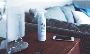 シュッとひと吹きするだけで、匂いはもちろん、花粉やアレルギー物質を取り除いてくれる優れものです。水が触れても大丈夫なものなら、何にでも使えて、とても便利なアイテムです。