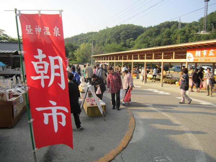 阿智村では毎日朝市も開かれています!長野名物のおいしい食べ物がいっぱい♪