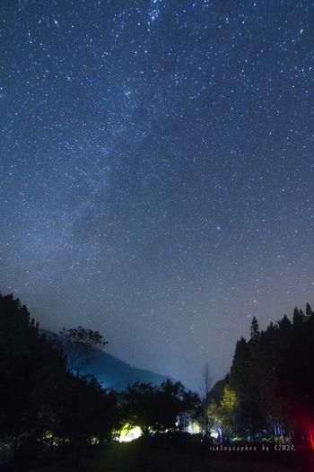 阿智村にはこちらの「弓の又キャンプ場」の他、23棟のバンガローがある「銀河もみじキャンプ場」などのキャンプ場があります。