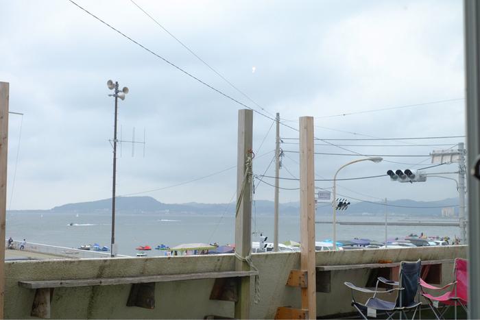 太平洋が見渡せるテラス席だってあるんです! 晴れた日にはこちらも利用したいですね♪