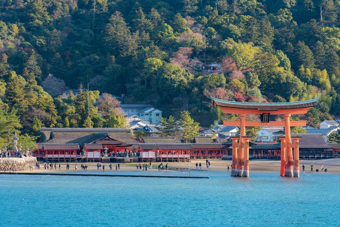 """世界中から観光客が訪れる広島県の""""海に浮かぶ神社""""厳島神社。国宝や重要文化財の数は何と約260点にも及びます。"""