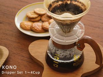 日本の老舗珈琲メーカーブランドKONO(コーノ)が1973年に販売開始したコーヒーフィルター。