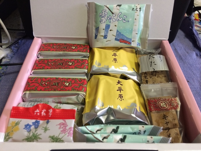 一つ一つのお菓子に物語を感じる詰め合わせは、北海道の自然からのお便りのようです。