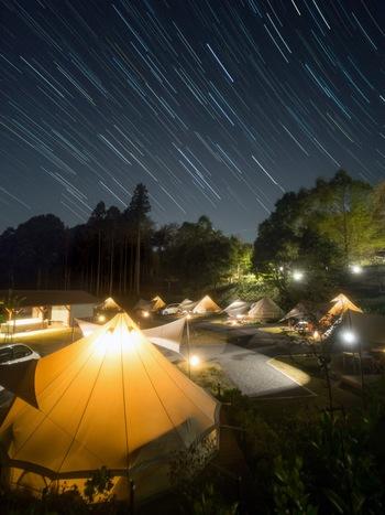 星空を楽しむには宿泊プランを利用しなくてはなりませんが、手ぶらでデイキャンプを楽しめる日帰りプランも用意されています。