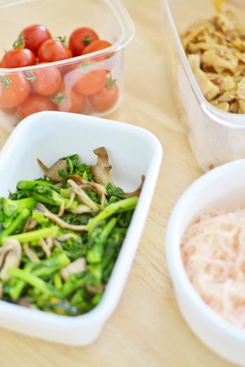 日持ちのするおかずを作りだめしておけば、普段の料理が時短で完了!朝の忙しい時間帯のお弁当作りも、詰めるだけだからラクチンです。