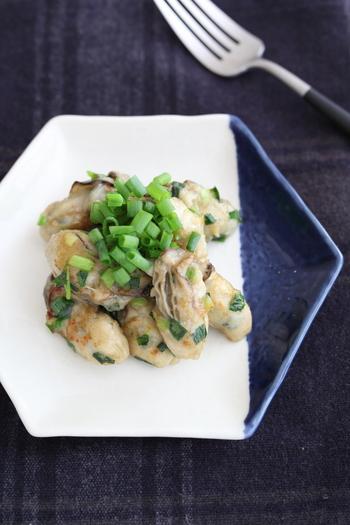 バターとオイスターソースのシンプルな味付けで、牡蠣のミルク風味が口いっぱいにジュワ~と広がるレシピ。