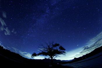 南佐久郡南牧村「野辺山高原」の冬の星空。