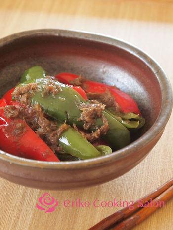 ピーマンを炒めて煮るというひと手間で、旨味も栄養もぎゅっと凝縮されます。ビールや赤ワインと相性◎。