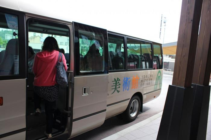 JR安来駅・JR米子駅・玉造温泉・皆生温泉・米子全日空ホテルより無料シャトルバスが運行しています。確実な時刻表は、公式HPで確認して下さい。