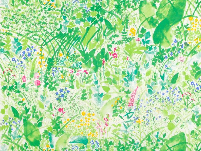 marimekkoから春にぴったりの「KESANTO」をご紹介します。新緑や咲き始めた小さな花々が柔らかいタッチで描かれたファブリックは、ずっと眺めていたくなりますね。こんな春らしい生地を使って、カーテンやクッションカバーを作るのもおすすめ。部屋の中が一気に華やかになりそうですね。