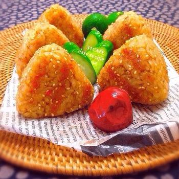 砂糖多めの甘味噌が、ご飯にとっても合いそう!焼きおにぎりは冷凍もできるそうで、たくさん作ってストックしておくと便利ですね。