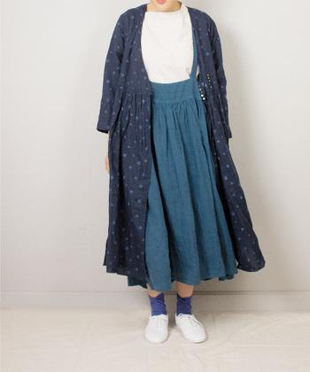 ジャンパースカートと一言でいっても、色やシルエット、素材…などいろいろありますよね。 あなたはどんなジャンパースカートがお好みでしょうか?