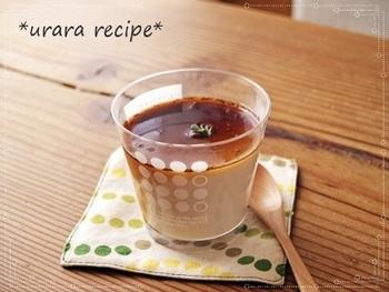 優しい甘さの豆乳プリンに、黒糖のジンジャーシロップをかけて大人味に変身!