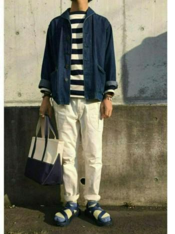 こちらのバッグは男性にも人気。スタイルに合わせて、サイズやカラーを選んであげたいですね。