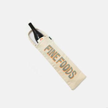日本のバッグブランド「TEMBEA(テンベア)」とのコラボで作られた「FINE FOODSオリジナルワイン&バゲッドトートバッグ」。このサイズ感はなかなか無いので、ピンと来たら即買いが確実ですよ。