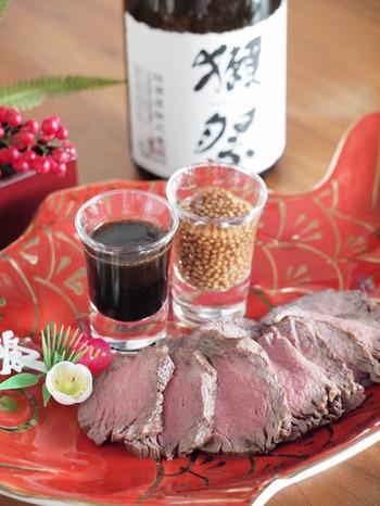 シンプル・イズ・ベストなお肉料理。 柔らかくしあげてくれるストウブだからこそできる一品です。