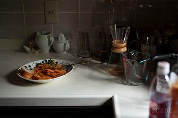 パラティッシのプレートは、PURPLEもBLACKもパスタにオススメ。  テーブルコーディネートがすっきり引き締まるんです。