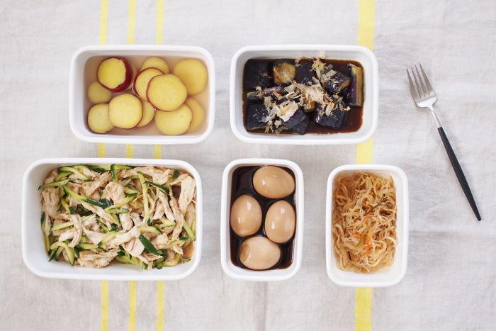 週末は常備菜の作り置き♪サイズ違いで揃えておくととっても便利。