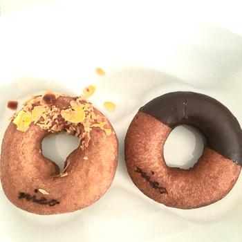 体にやさしい大豆や雑穀などを活かしたヘルシーで美味しいドーナツ。ほんのり甘く、もちもちしてるのにさっぱりとした後味で、ぱくぱく食べられちゃいます。