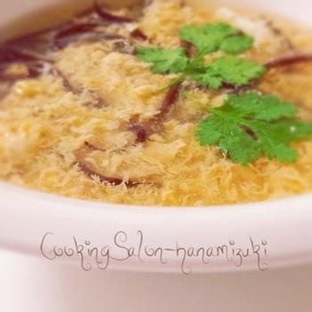 中華の定番スープにも! トロミのあるスープに溶け込んだ生姜パワーで、冷えた身体もポッカポカ。