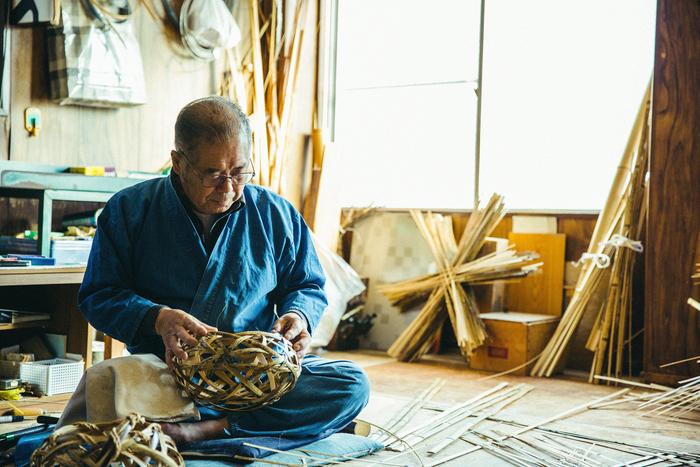 作務衣が様になる「虎竹工房 西川」の西川静廣さん。終始楽しいトークで場を和ませてくださいました