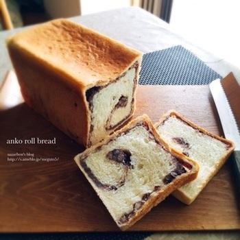 渦巻き状にあんこが詰まったパン。あんこもパンも手作り ならさらに美味しい。ふんわりとしたパン生地に、しっとり あんこ。