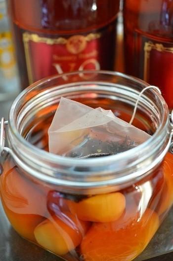 柿×栗×紅茶の意外な組合せの秋限定のフルブラは、ちょっぴり甘めの仕上がり。口当たりがまろやかなので、飲み過ぎ注意ですよ!