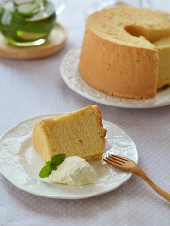 ふわふわ美味しいシフォンケーキを作りましょ♪基本の作り方とアレンジレシピ帖