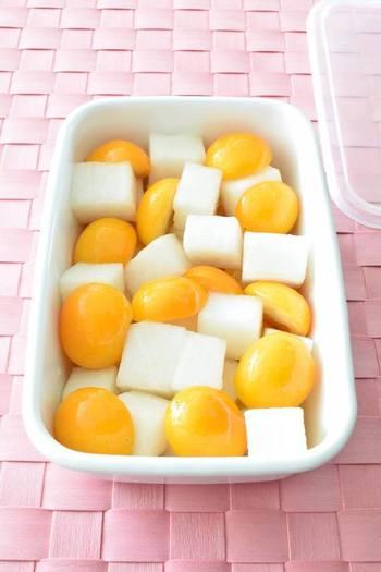 金柑と大根で作る「大根あめ」をアレンジした、さわやか天然のど飴は、作り置きもできるので、乾燥が気になる季節に常備しておくと便利かも。