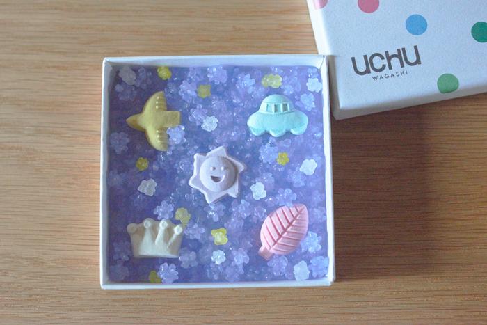 「UCHU wagashi」というユニークなブランド名は、「和菓子も、宇宙のようにまだまだ無限の可能性を秘めている」という想いからつけられたもの