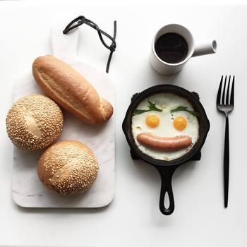 1人分の朝食作りをはじめ、副菜やお弁当のおかずなど、ちょっとした一品を作りたい時に大活躍。小さい分、熱のまわりが早いので、時短で調理できるのも嬉しい。