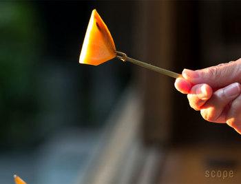 先端のとがり具合がちょうどよく、刺したものが落ちにくい。スマートなフォルムなので口に運びやすく、実用性もバツグンです。
