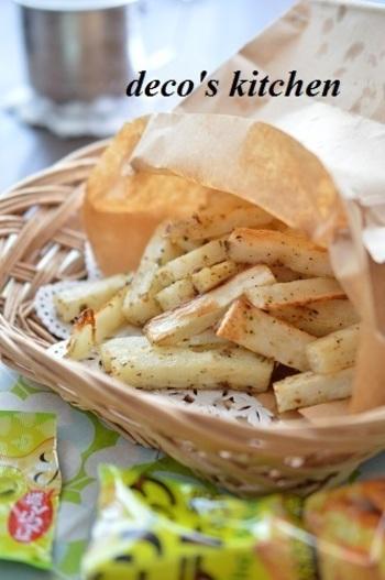 こちら、ジャガイモではなく長芋のポテト。 長芋のポテトはホクホク甘くて、とても美味しいんですよ♡