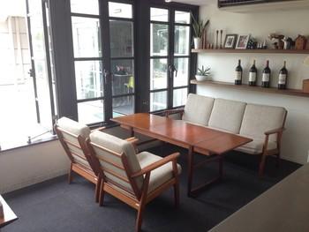 北欧家具で揃えられたインテリアがとても素敵です。
